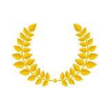 Gold laurel wreath icon. Stock Photos