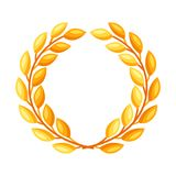 Gold laurel wreath. Illustration for decoration and design Royalty Free Stock Photo