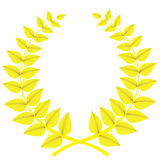 Gold laurel wreath isolated, vector royalty free illustration
