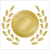 Gold laurel wreath and medallion Royalty Free Stock Images