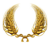 Gold Laurel Wreath Of Golden Wheat Royalty Free Stock Image