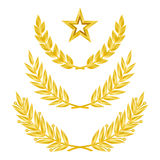 Gold laurel wreath. Royalty Free Stock Photography