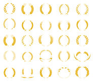 Gold laurel wreath - a symbol of the winner. Royalty Free Stock Image