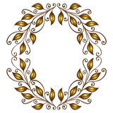 Gold Laurel Wreath Stock Images