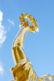 Gold laurel wreath, victory concept Stock Image