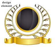 Gold laurel wreath on white background. Vector illustration Royalty Free Stock Image
