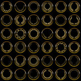 Gold laurel wreaths Royalty Free Stock Image