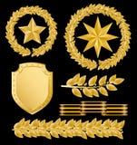 Gold laurels Royalty Free Stock Photos