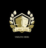 Gold lawyer logo Royalty Free Stock Images