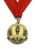 Gold Leadeship Medal Stock Images