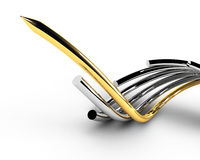 Gold leading cable Royalty Free Stock Image