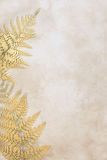 Gold Leaf Abstract Stock Image