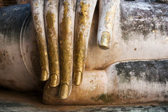 Gold Leaf Covered Buddha Hand Royalty Free Stock Photography