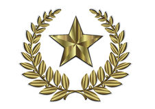 Gold Leaf Crest And Golden Star. Leaf crest and olden star Stock Photography