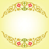 Gold leaf and flowers design Royalty Free Stock Photos