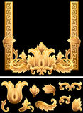 Gold Leaf Frame Stock Photography