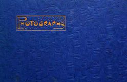 Retro photo album cover Stock Photos