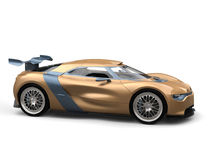 Gold leaf painted modern super sports car Stock Photography