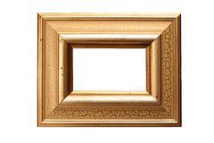 Gold leaf picture frame. With oil resist technique applied. Clipping Paths included Royalty Free Stock Photos