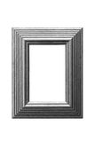 Gold leaf picture frame greyscale. Greyscale version of an gold leaf treated wooden picture frame. Level, contrast and detail adjusted for black and white Royalty Free Stock Images