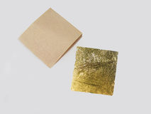 Gold Leaf sheets for Gilding Royalty Free Stock Images