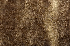 Gold leather, a background Stock Photography