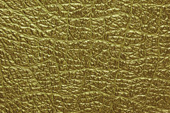 Gold leather background and texture Royalty Free Stock Photography