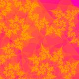 Gold Leaves on Orange Abstract royalty free stock images
