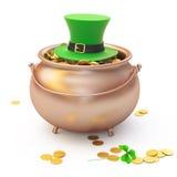 Gold leprechaun concept Stock Image