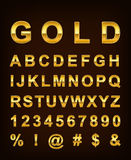 Gold letter stock illustration