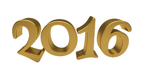 Gold 2016 lettering isolated Stock Photo