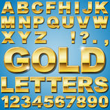 Gold Letters Stock Photo