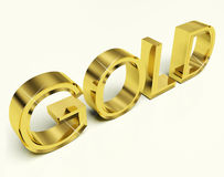 Gold Letters As Symbol For Wealth Or Riches Royalty Free Stock Images