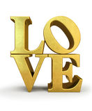 Gold letters LOVE royalty free illustration