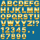 Gold Letters and Numbers