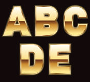 Gold letters - set 1 Royalty Free Stock Image