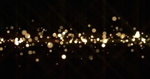 Free Gold Light Bokeh Sparks, Golden Glitter Shine. Shiny Bright Snow Bokeh Blur Effect, Shimmering Dust Light And Magic Glow Sparkles Stock Photo - 159872980