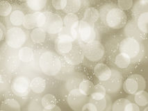 Gold light  bokeh for X'mas background Stock Image