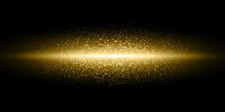 Free Gold Light Flash Glitter Dust Particles Burst Background, Vector Golden Shimmer Flares Glow Line, Magic Glittering Sparkles Stock Image - 131408771