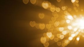 Gold Light Hearts Overlay
