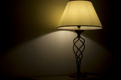 Gold light lamp Stock Photography