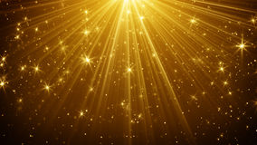 Gold Light Rays And Stars Abstract Background Royalty Free Stock Images
