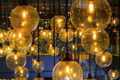 Gold lighting decoration royalty free stock photo