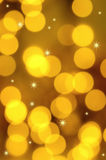 Gold lights and stars. Abstract background of gold lights and stars Royalty Free Stock Photography