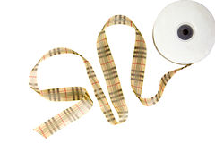 Gold line satin ribbons Royalty Free Stock Images