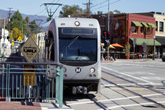 A Gold Line train Royalty Free Stock Photos
