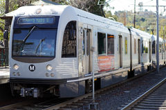 A Gold Line train Stock Images