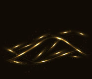 Gold lines abstract wavy background Royalty Free Stock Images