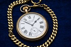Gold Link Pocket Watch Royalty Free Stock Images