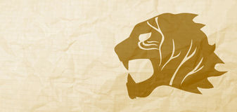 Gold lion Stock Image